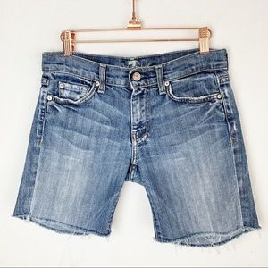 7FAM Cut Off Jeans Shorts Frayed Distressed sz 27